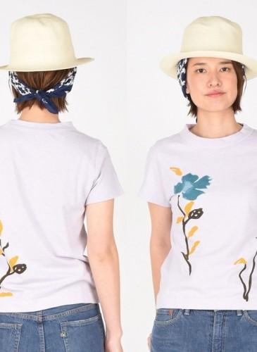 45R綠色花朵印刷T恤,NT$6,500。