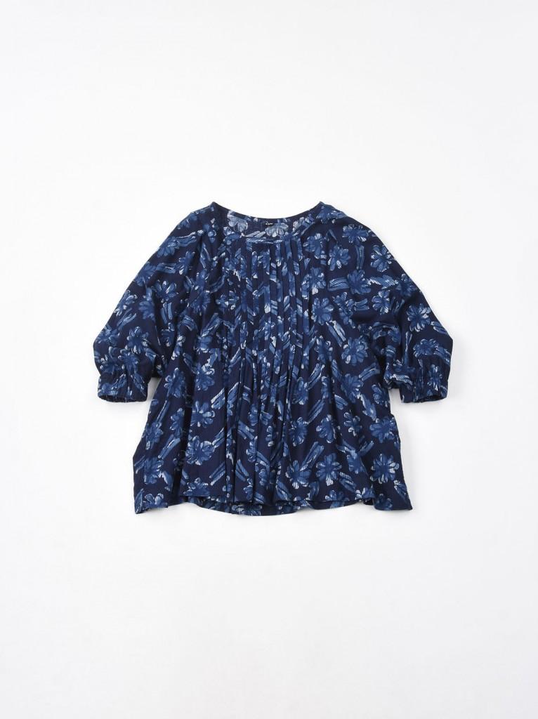 45R藍色直紋印花上衣,NT$21,200。