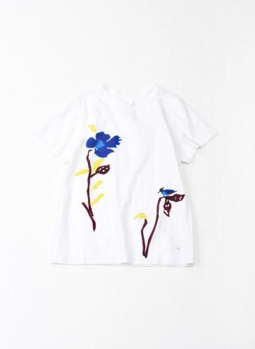 45R藍色花朵印刷T恤,NT$6,500。