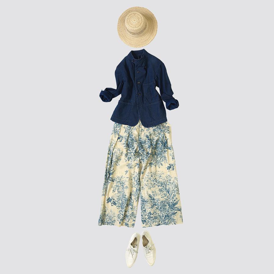 45R設計師-井上保美Yasumi的春夏豐富印花穿搭提案。-1