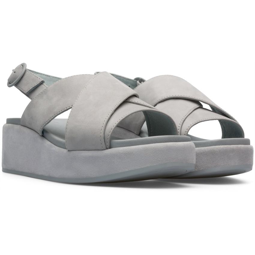 CAMPER灰色Misia楔型涼鞋,NT$8,280。-2