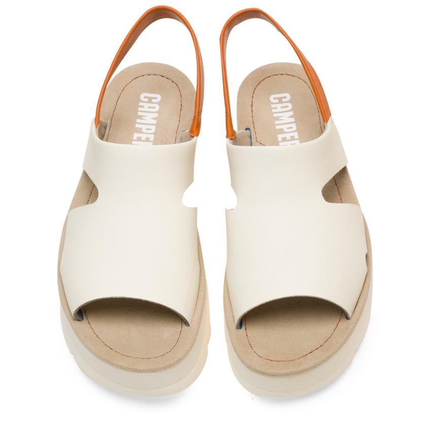 CAMPER米白色厚底Oruga Up涼鞋,NT$5,780。-1
