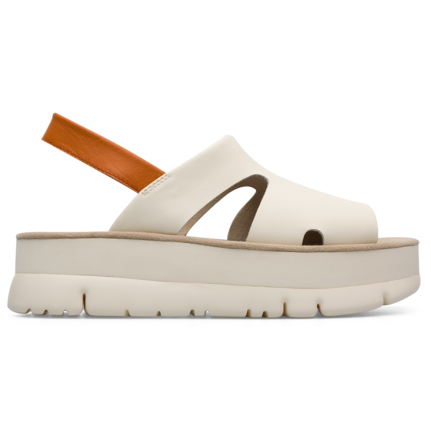 CAMPER米白色厚底Oruga Up涼鞋,NT$5,780。-3
