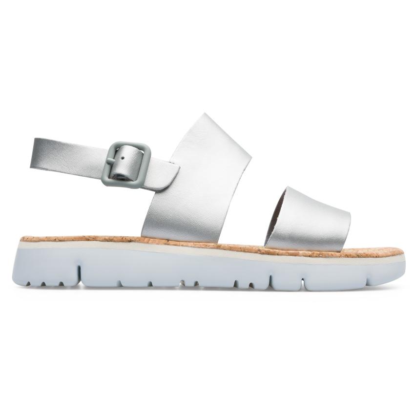 CAMPER銀色橫帶Oruga Sandal,NT$5,180-3