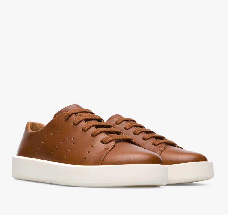 CAMPER Courb系列咖啡色鞋,NT$6,680。(男鞋)1