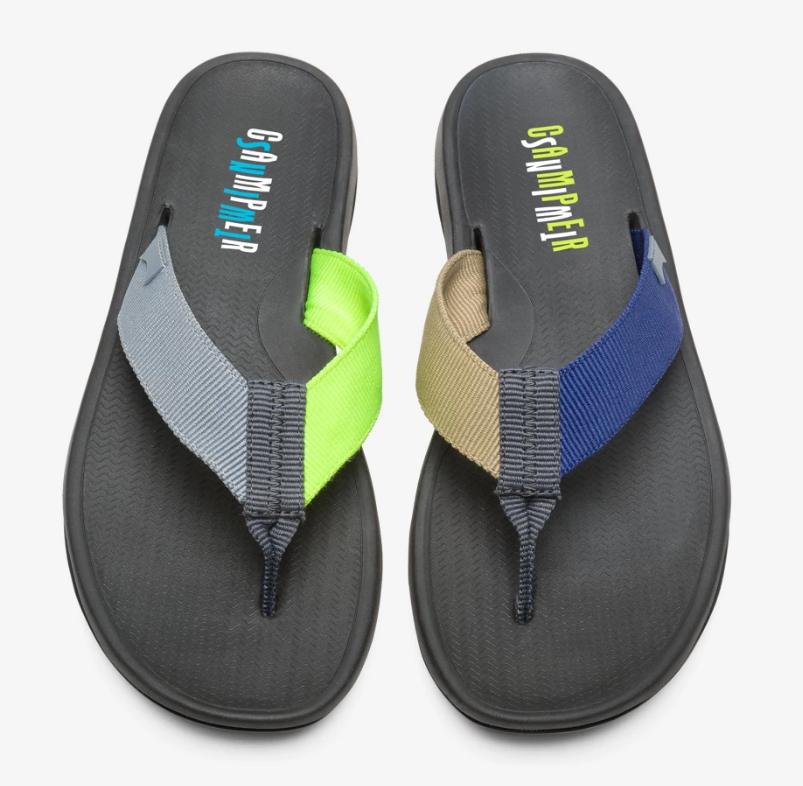 CAMPER Twins螢光多色拼接夾腳拖鞋,NT$4,280。(男鞋)-3