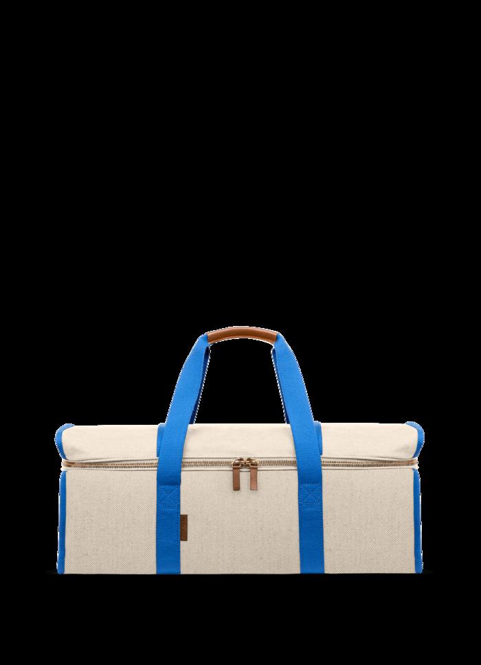 LUNIFORM N°11米白+水藍色運動背袋,NT$33,500。-1