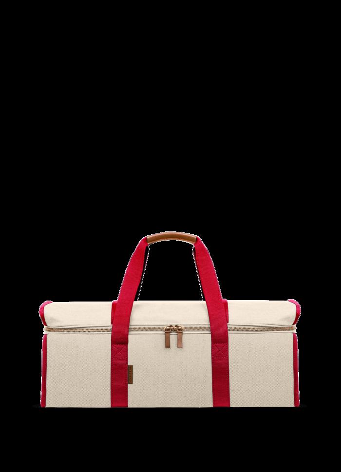 LUNIFORM N°11米白+紅色運動背袋,NT$33,500。-1