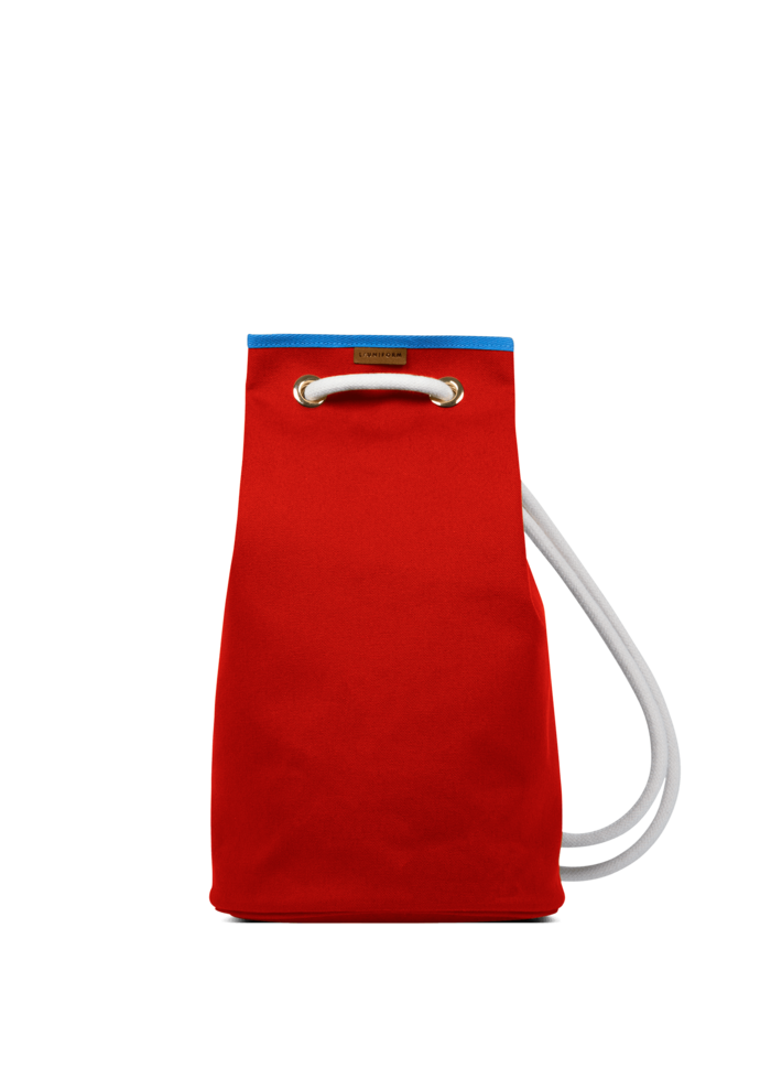 LUNIFORM N°5鮮紅+水藍色行李袋,NT$21,000。-1