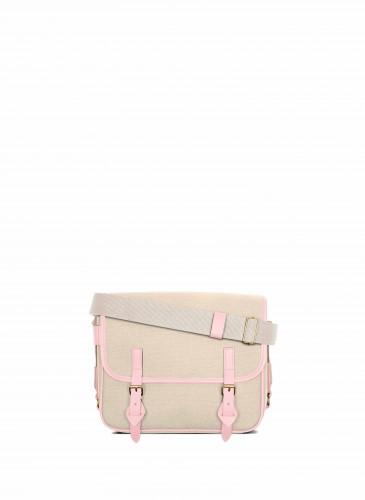 LUNIFORM No°43 米×粉紅色側背包,NT$28,000。-1