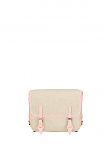 LUNIFORM No°43 米×粉紅色側背包,NT$28,000。-2