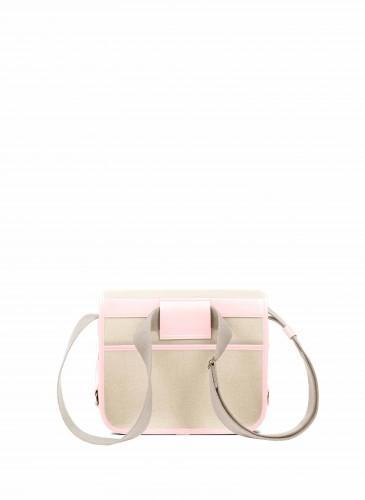 LUNIFORM No°43 米×粉紅色側背包,NT$28,000。-3