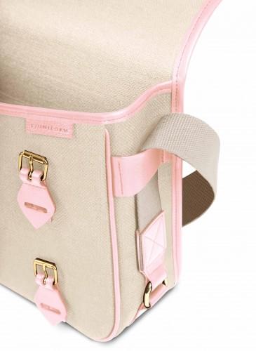LUNIFORM No°43 米×粉紅色側背包,NT$28,000。-4