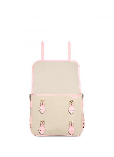 LUNIFORM No°43 米×粉紅色側背包,NT$28,000。-5