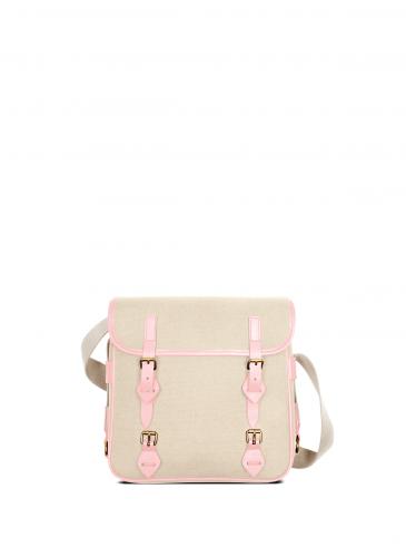 LUNIFORM No°43 米×粉紅色側背包,NT$28,000。-6