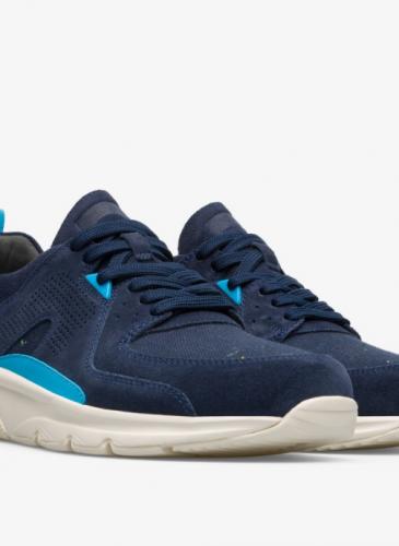 CAMPER Drift深藍色麂皮拼接休閒鞋,NT$7,680。( 男鞋)-1