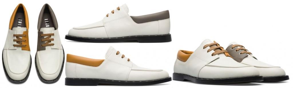 CAMPER TWINS系列白底拼色樂福鞋,NT$7,580。(男鞋)