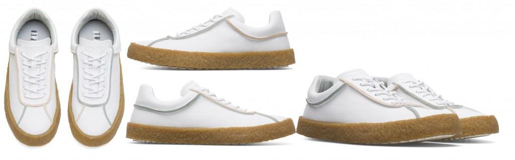 CAMPER TWINS系列白色膠底休閒鞋