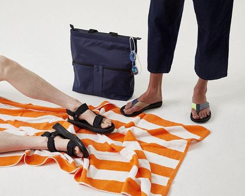 酷夏涼鞋來點不一樣的!CAMPER螢光配色Twins人字拖透心涼,速乾織帶涼鞋Match暢快奔向海灘!