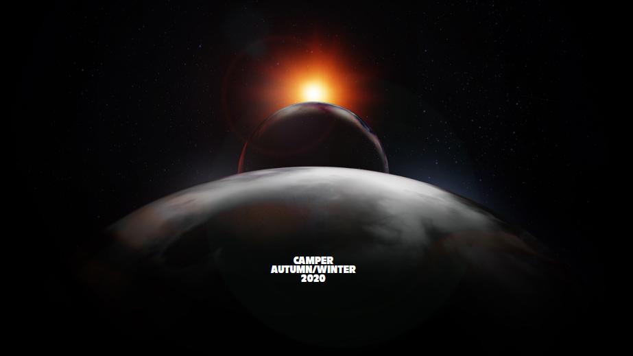 2020秋冬,CAMPER的敘事舞台發生在外太空,以「Earth Calling」(地球呼喚)為題,展開全新旅程。