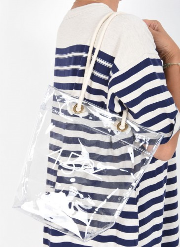 45R中型透明PVC購物袋,NT$2,900。