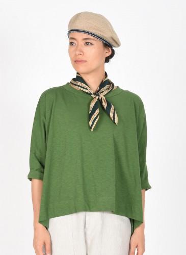 45R灰色棉針織貝雷帽,NT$9,500。穿搭-3