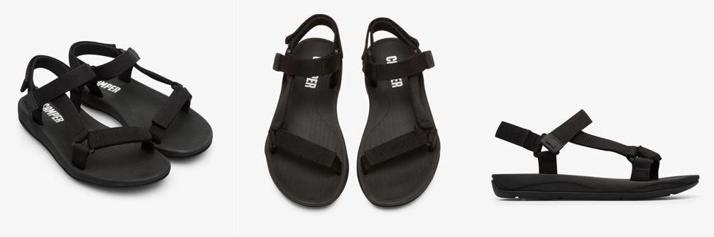 CAMPER黑色Match涼鞋
