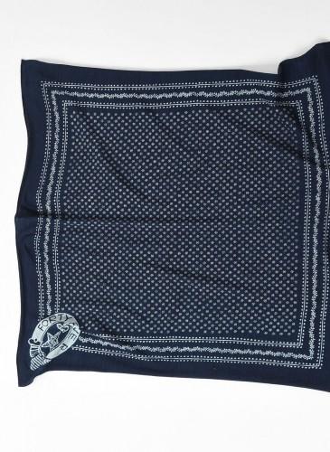 45R藍染圖騰方巾