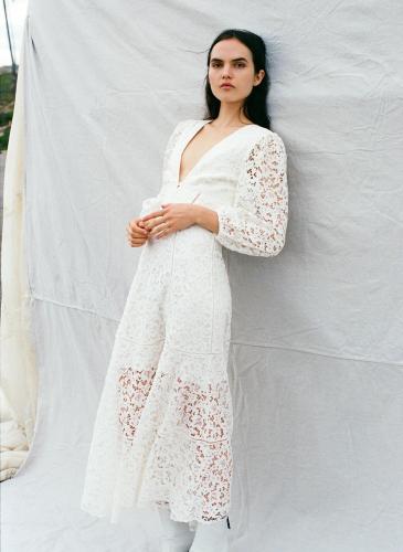 Jonathan Simkhai 20早秋白色蕾絲洋裝