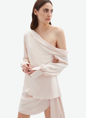Jonathan Simkhai 20早秋裸色罩衫 裸色短裙
