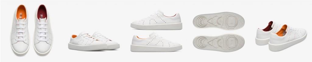 CAMPER Twins白色休閒鞋