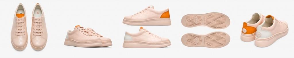 CAMPER Twins粉紅+白+橘配色休閒鞋