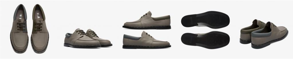 CAMPER Twins灰+藍色帆船鞋